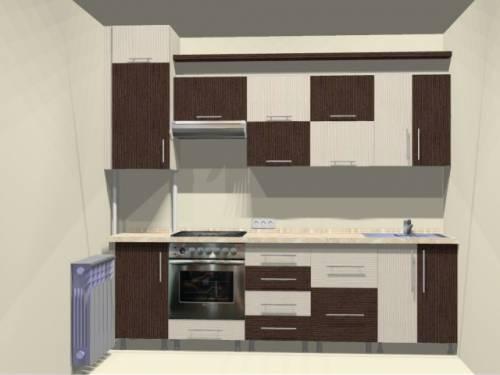 Кухня двухцветная